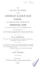 The Nature and Genius of the German Language displayed, etc