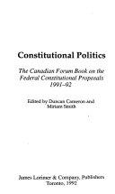 Constitutional Politics Book