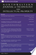 Northwestern Journal Of Technology Intellectual Property Vol 9 No 3