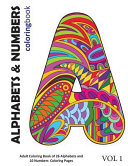Alphabets and Numbers Coloring Book
