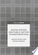 Digitalization and Public Sector Transformations Book