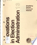 Simplifying Election Forms and Materials Book