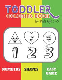 Toddler Coloring Book for Kids Age 1 3