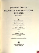 California Cases on Security Transactions in Land