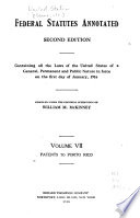 Federal Statutes Annotated Patents To Porto Rico