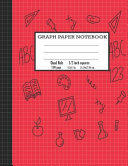 Graph Paper Notebook Quad Rule  1 2 Inch Grid Paper Notebook Composition Notebook for Kids Red Cover