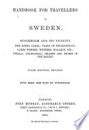 Handbook for Travellers in Sweden  Stockholm and Its Vicinity
