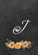 Initial Monogram Letter J on Chalkboard Book PDF