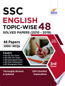 """SSC English Topic-wise 48 Solved Papers (2010 2019) 3rd Edition"" by Disha Experts"