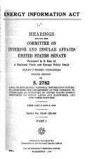 Energy Information Act