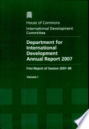 Department for International Development annual report 2007