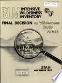 BLM Intensive Wilderness Inventory Book PDF