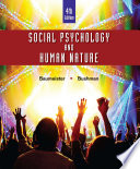 Social Psychology and Human Nature  Comprehensive Edition Book