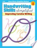 Handwriting Skills Zaner Bloser Simplified Method     Improving Cursive Writing