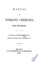 Manual of Inorganic Chemistry for students     Revised and enlarged by I  L  Peet  etc Book PDF