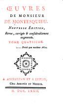 Livres XXX-XXXI. La défense de l'Esprit des lois. Lysimaque. La table générale des matieres des quatre volumes de l'Esprit des lois