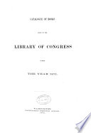 Catalogue Of Books Added To The Library Of Congress From Dec 1 To Dec 1