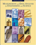 Cover of Measurement and Data Analysis for Engineering and Science
