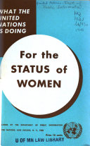 What the United Nations is Doing for the Status of Women