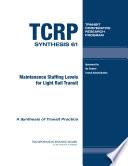 Maintenance Staffing Levels for Light Rail Transit Book