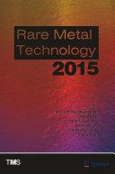 Rare Metal Technology 2015 [Pdf/ePub] eBook