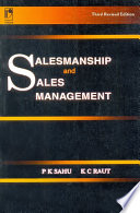 Salesmanship And Sales Management Book