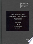 Cases and Materials on California Community Property