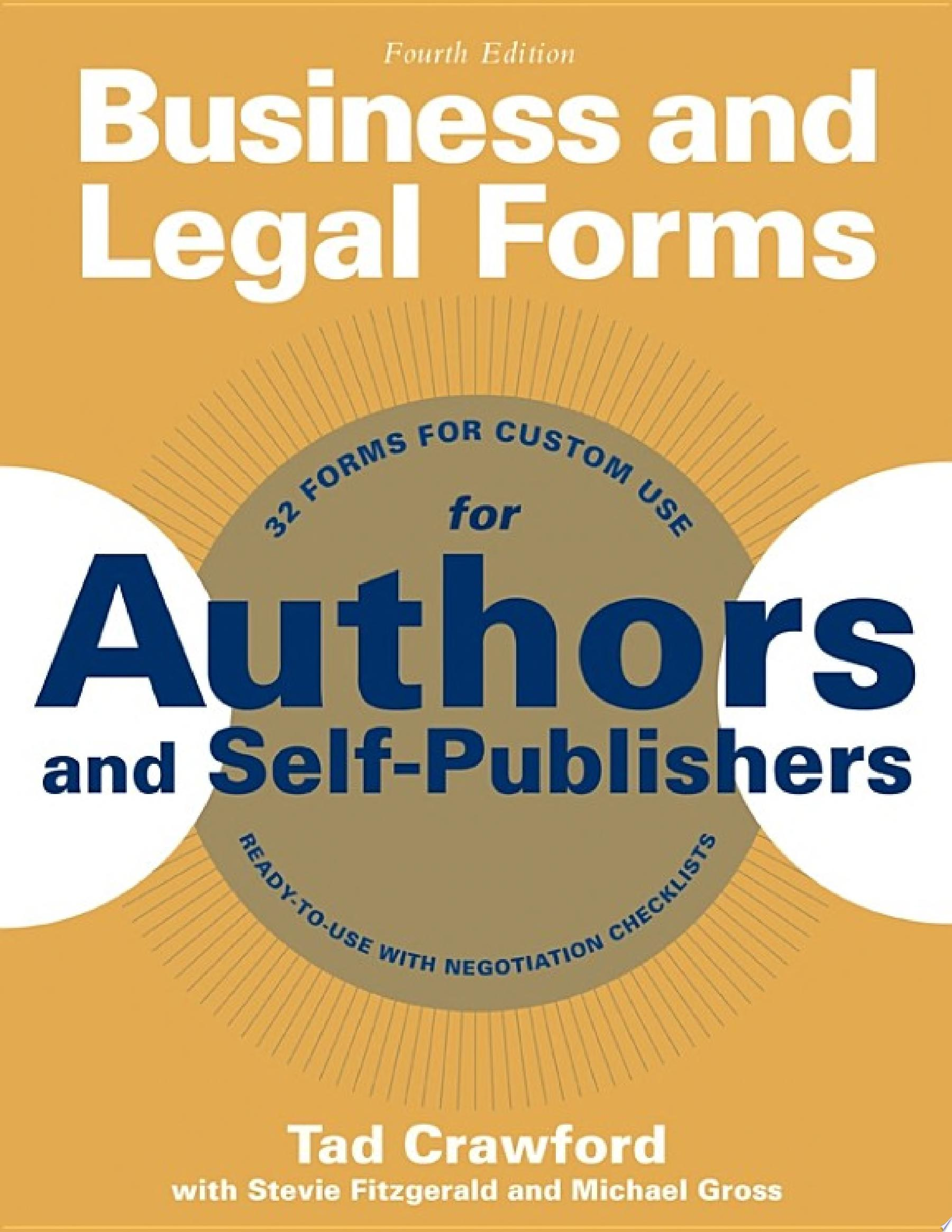 Business and Legal Forms for Authors and Self Publishers
