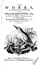 The Works, in Verse and Prose, of William Shenstone, Esq