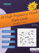 45 High Frequency Words Flash Cards