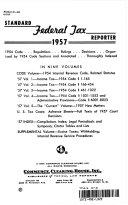 STANDARD FEDERAL TAX REPORTER 1957 VOLUME 2