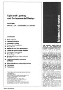 Light and Lighting and Environmental Design