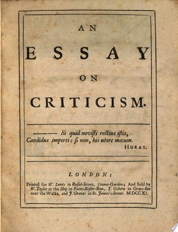 An+Essay+on+Criticism