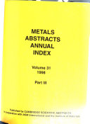 Metals Abstracts Book