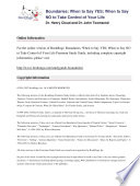 Boundaries by Dr  Henry Cloud and Dr  John Townsend   Summary   Study Guide