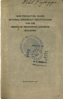 National Emergency Specifications for the Design of Reinforced Concrete Buildings
