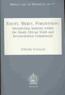 Equity  Mercy  Forgiveness Book