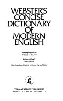 Webster s Concise Dictionary of Modern English