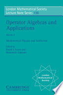 Operator Algebras And Applications