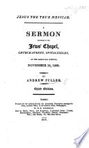 Jesus The True Messiah A Sermon On Ps Xl 6 8 Second Edition