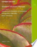 Student Solutions Manual [to Accompany] Introductory Chemistry, a Foundation, Introductory Chemistry, Basic Chemistry Seventh Edition Steven S. Zumdahl, Donald J. DeCoste