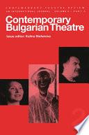 Contemp Bugarian Theatre 2