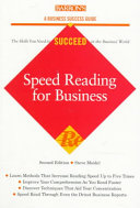 Speed Reading for Business Pdf/ePub eBook