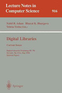 Digital Libraries - Current Issues