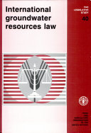 International Groundwater Resources Law