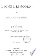 The novels of J  Fenimore Cooper  Author s unabridged ed