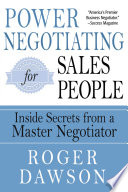 link to Power negotiating for salespeople : inside secrets from a master negotiator in the TCC library catalog