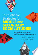 Instructional Strategies For Middle And Secondary Social Studies Book PDF