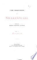 A New Variorum Edition Of Shakespeare Macbeth 1873 Book PDF