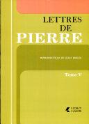 Pdf Lettres de Pierre Telecharger